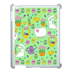 Cute Easter Pattern Apple Ipad 3/4 Case (white) by Valentinaart