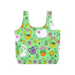 Cute Easter Pattern Full Print Recycle Bags (s)  by Valentinaart
