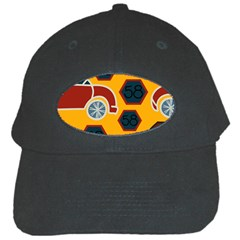 Husbands Cars Autos Pattern On A Yellow Background Black Cap by Nexatart