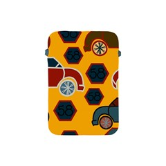 Husbands Cars Autos Pattern On A Yellow Background Apple Ipad Mini Protective Soft Cases by Nexatart