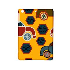 Husbands Cars Autos Pattern On A Yellow Background Ipad Mini 2 Hardshell Cases