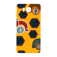 Husbands Cars Autos Pattern On A Yellow Background Samsung Galaxy Alpha Hardshell Back Case by Nexatart