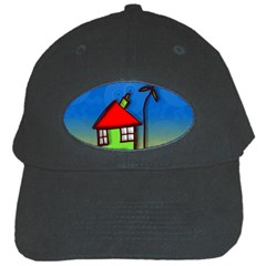 Colorful Illustration Of A Doodle House Black Cap