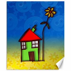 Colorful Illustration Of A Doodle House Canvas 8  X 10  by Nexatart