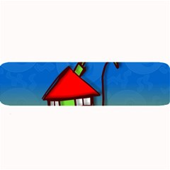 Colorful Illustration Of A Doodle House Large Bar Mats by Nexatart