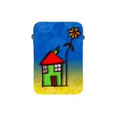 Colorful Illustration Of A Doodle House Apple Ipad Mini Protective Soft Cases