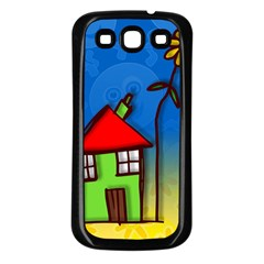 Colorful Illustration Of A Doodle House Samsung Galaxy S3 Back Case (black) by Nexatart