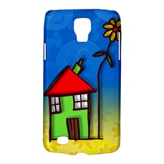 Colorful Illustration Of A Doodle House Galaxy S4 Active by Nexatart