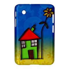 Colorful Illustration Of A Doodle House Samsung Galaxy Tab 2 (7 ) P3100 Hardshell Case