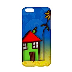 Colorful Illustration Of A Doodle House Apple Iphone 6/6s Hardshell Case by Nexatart