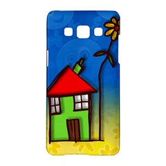 Colorful Illustration Of A Doodle House Samsung Galaxy A5 Hardshell Case  by Nexatart