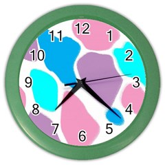 Baby Pink Girl Party Pattern Colorful Background Art Digital Color Wall Clocks by Nexatart
