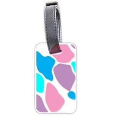Baby Pink Girl Party Pattern Colorful Background Art Digital Luggage Tags (one Side)  by Nexatart