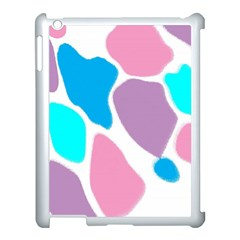 Baby Pink Girl Party Pattern Colorful Background Art Digital Apple Ipad 3/4 Case (white) by Nexatart