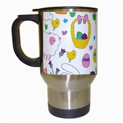 Cute Easter Pattern Travel Mugs (white) by Valentinaart