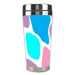 Baby Pink Girl Party Pattern Colorful Background Art Digital Stainless Steel Travel Tumblers