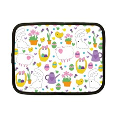 Cute Easter Pattern Netbook Case (small)  by Valentinaart