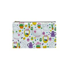 Cute Easter Pattern Cosmetic Bag (small)  by Valentinaart