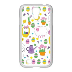 Cute Easter Pattern Samsung Galaxy S4 I9500/ I9505 Case (white) by Valentinaart