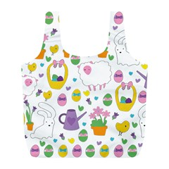 Cute Easter Pattern Full Print Recycle Bags (l)  by Valentinaart