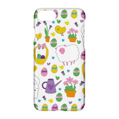 Cute Easter Pattern Apple Iphone 7 Hardshell Case by Valentinaart