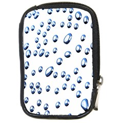Water Drops On White Background Compact Camera Cases by Nexatart