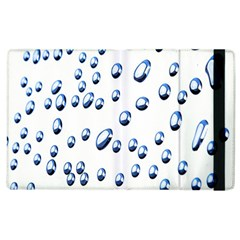 Water Drops On White Background Apple Ipad 2 Flip Case