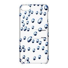 Water Drops On White Background Apple Ipod Touch 5 Hardshell Case With Stand by Nexatart