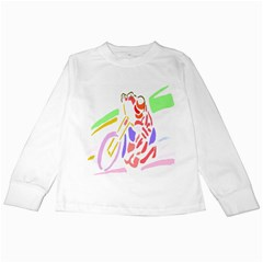 Motorcycle Racing The Slip Motorcycle Kids Long Sleeve T Shirts by Nexatart
