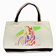 Motorcycle Racing The Slip Motorcycle Basic Tote Bag by Nexatart