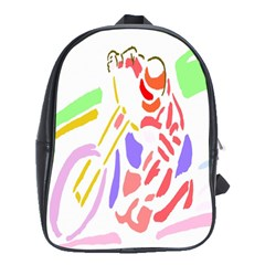 Motorcycle Racing The Slip Motorcycle School Bags(large)  by Nexatart