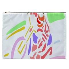 Motorcycle Racing The Slip Motorcycle Cosmetic Bag (xxl)  by Nexatart