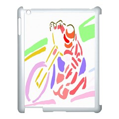 Motorcycle Racing The Slip Motorcycle Apple Ipad 3/4 Case (white) by Nexatart