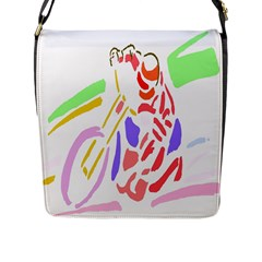 Motorcycle Racing The Slip Motorcycle Flap Messenger Bag (l)