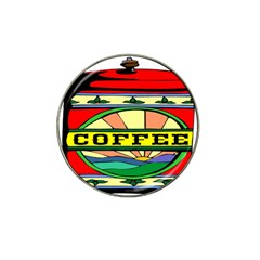 Coffee Tin A Classic Illustration Hat Clip Ball Marker (4 Pack) by Nexatart