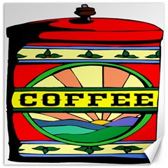 Coffee Tin A Classic Illustration Canvas 16  X 16