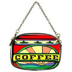 Coffee Tin A Classic Illustration Chain Purses (one Side)  by Nexatart