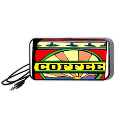 Coffee Tin A Classic Illustration Portable Speaker (black) by Nexatart