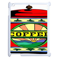 Coffee Tin A Classic Illustration Apple Ipad 2 Case (white) by Nexatart
