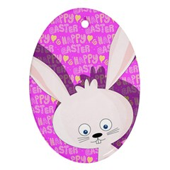 Easter Bunny  Ornament (oval) by Valentinaart