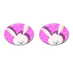 Easter Bunny  Cufflinks (oval) by Valentinaart