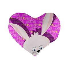 Easter Bunny  Standard 16  Premium Heart Shape Cushions by Valentinaart