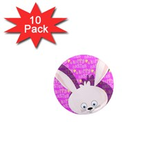 Easter Bunny  1  Mini Magnet (10 Pack)  by Valentinaart