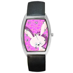 Easter Bunny  Barrel Style Metal Watch by Valentinaart