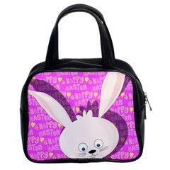 Easter Bunny  Classic Handbags (2 Sides) by Valentinaart