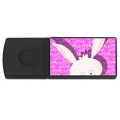 Easter Bunny  Usb Flash Drive Rectangular (4 Gb) by Valentinaart