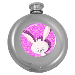 Easter Bunny  Round Hip Flask (5 Oz) by Valentinaart
