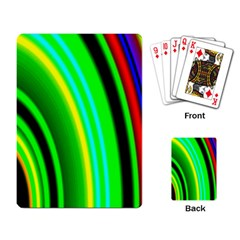 Multi Colorful Radiant Background Playing Card