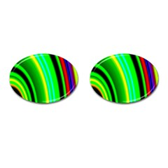 Multi Colorful Radiant Background Cufflinks (oval) by Nexatart