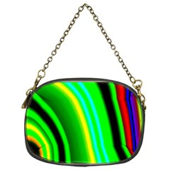 Multi Colorful Radiant Background Chain Purses (one Side)